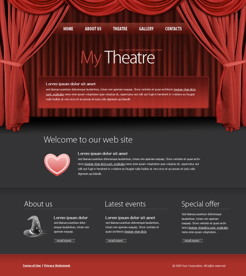 theater css template - 5973