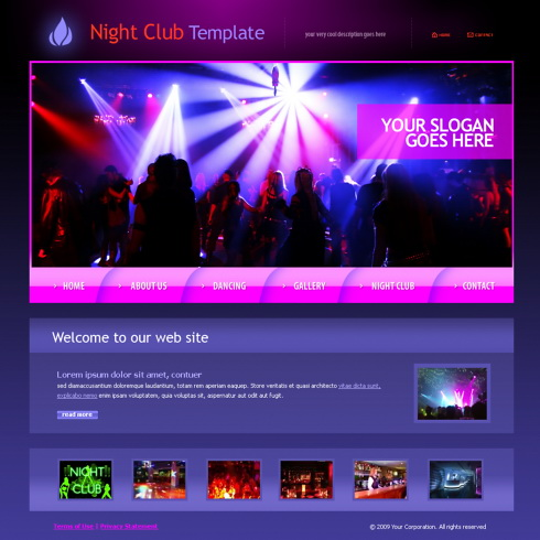 dance forum web template 5998 entertainment media website templates dreamtemplate. Black Bedroom Furniture Sets. Home Design Ideas