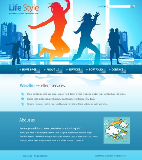 Dancing HTML Template - 6046 - Entertainment & Media - Website ...