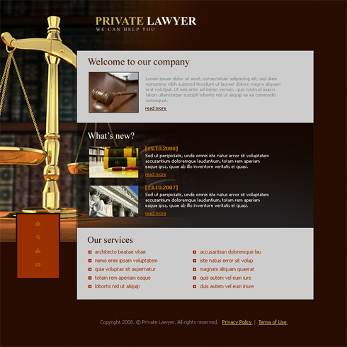 3636 - Law - Website Templates - DreamTemplate