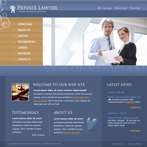 3683 - Law - Website Templates - DreamTemplate