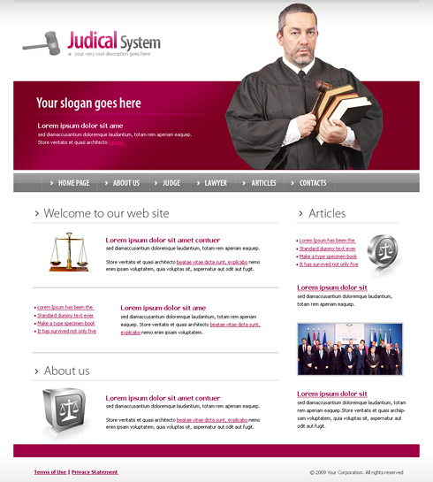 6156 - Law - Website Templates - DreamTemplate