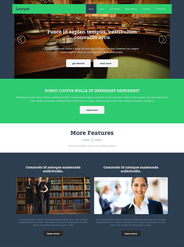 Lawyer Website Template Law Website Templates DreamTemplate - Lawyer website template
