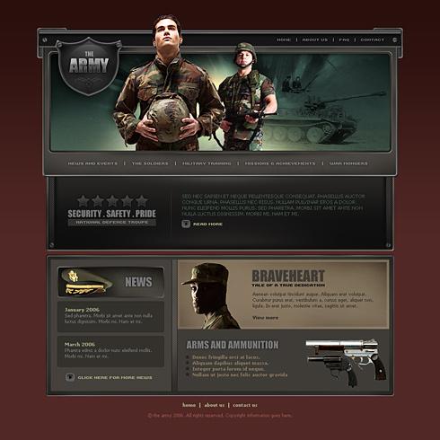 war css template 2479 military security website templates