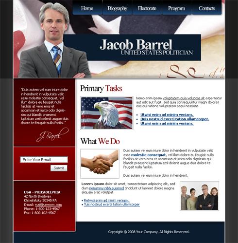 Politics Web Template Military Security Website - Political website templates