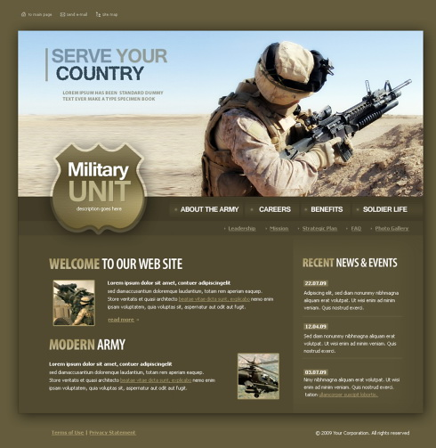 Military website template 4348 military security website military website template 4348 toneelgroepblik Images