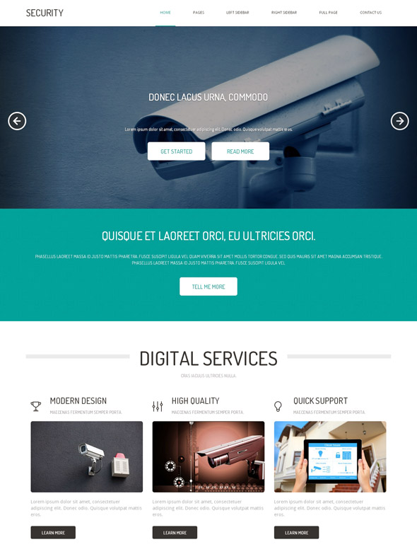 Security HTML Template - Military & Security - Website Templates