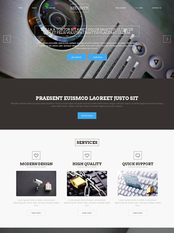 Information Security Site Template Military Security Website - Information website template