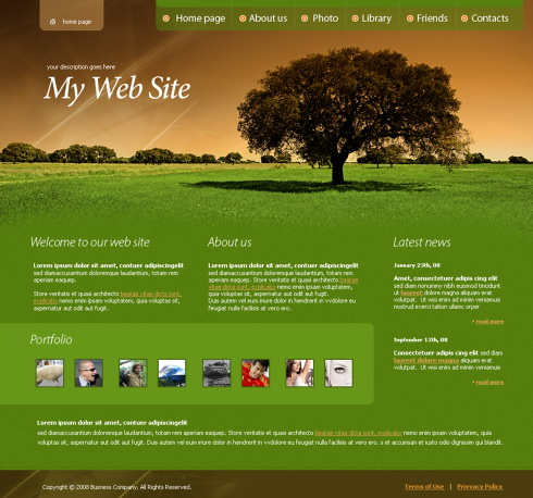 Landscape Design Website Templates