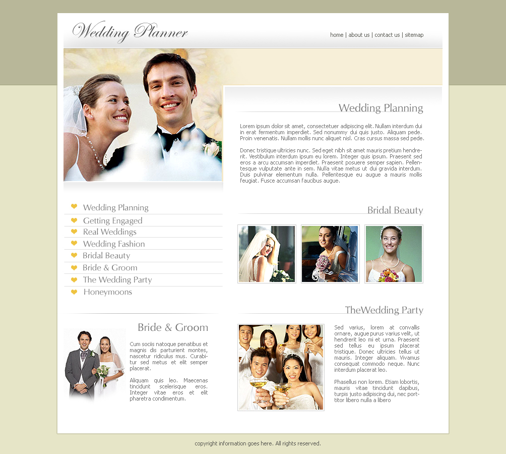 2473 Templates Website Wedding