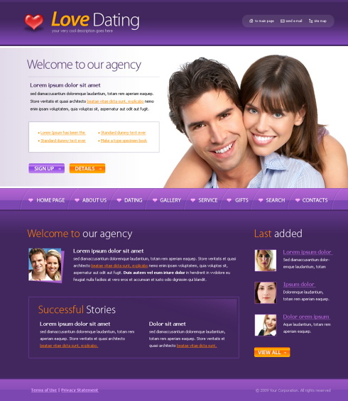 dating websites templates