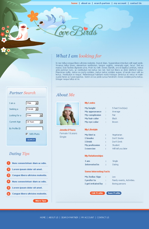 from Theo love birds dating site