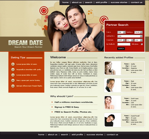 Dream Cafe Website Template - 5670 - Love & Dating - Website ...