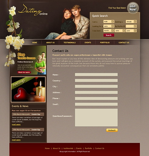 css dating site Hoast and global marketing group and our sister company dating site designer offers professional dating website design and development construction services our dating website design and development team will create an attractive front end design coupled with a professional backend.