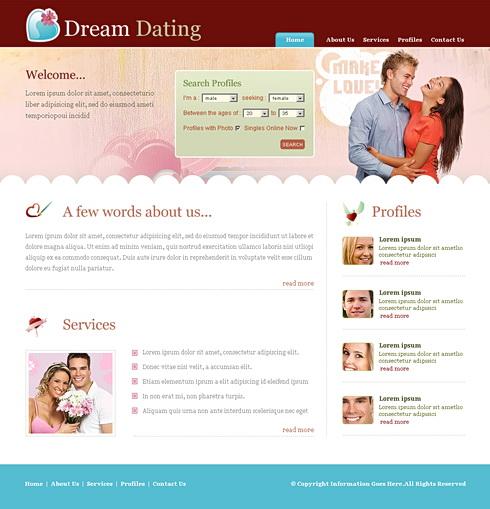 Dating-Website css-Vorlage