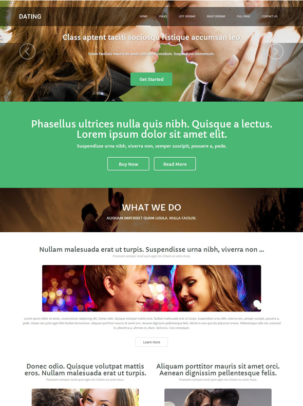 gratis website templates dating site