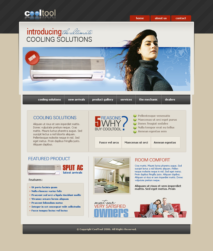 Air Conditioning Css Template 2413 Electronics Gadgets