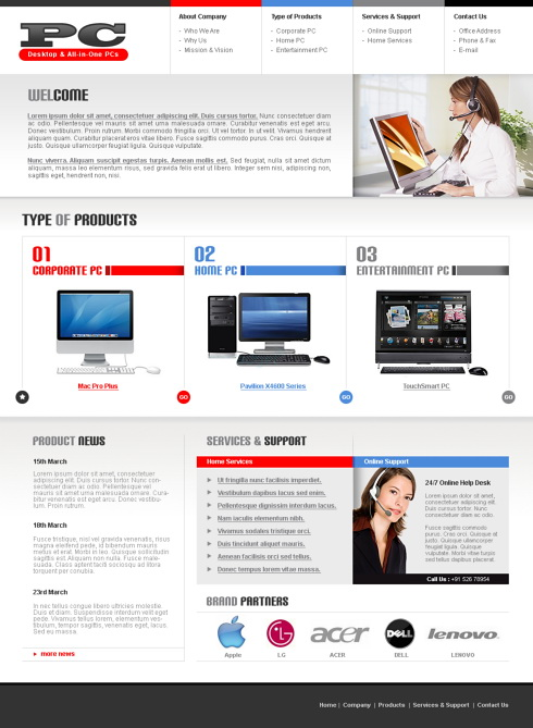 electronics shop html template 5690