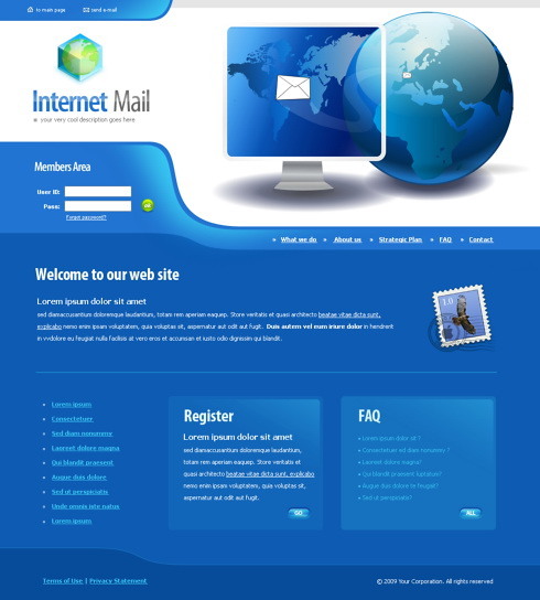 4383   Inter  Website Templates   DreamTemplate
