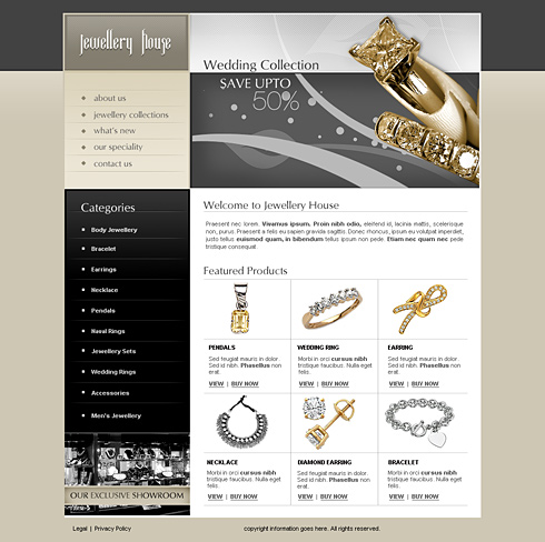 Jewelry House Web Template - 2443 - Jewelry - Website Templates ...