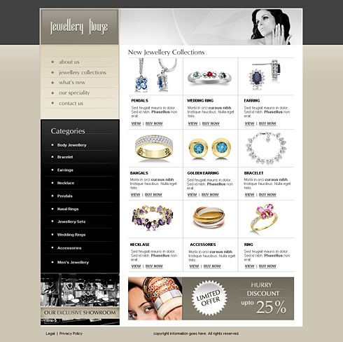 jewelry house web template 2443 jewelry website templates