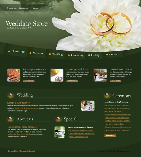 wedding rings web template 4257 jewelry website templates