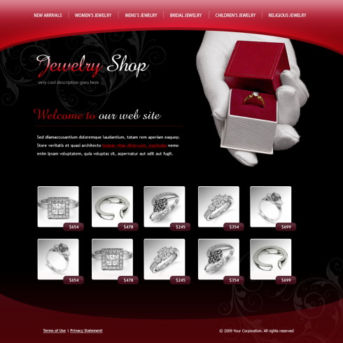 Rings Model XHTML Template - 6079 - Jewelry - Website Templates ...