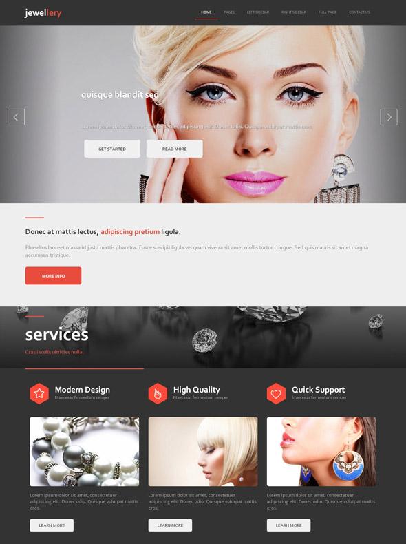 Fancy Jewelry HTML Template Jewelry Website Templates - Jewellery website templates