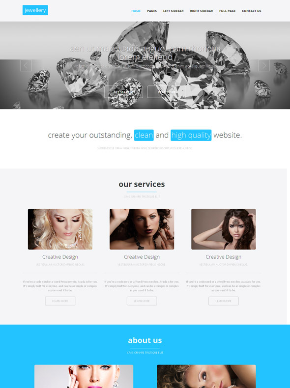 Diamond Jewelry HTML Template Jewelry Website Templates - Jewellery website templates