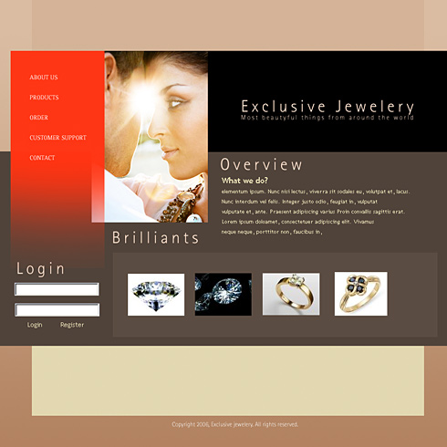 Jewels exclusive html template 0858 jewelry website templates jewels exclusive html template 0858 maxwellsz
