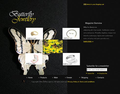 Butterfly Jewelry Website Template - 0976 - Jewelry - Website ...