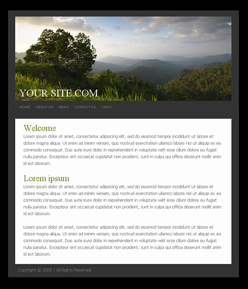0781 simple personal css templates free website templates