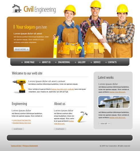 Civil Engineering Website Template - 5589 - Construction ...