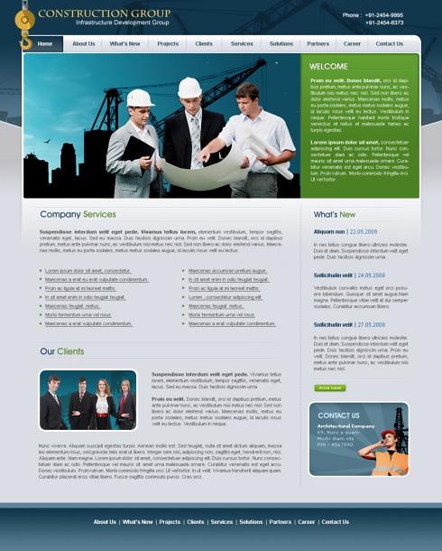 Blue print web template 5665 construction engineering blue print web template 5665 maxwellsz