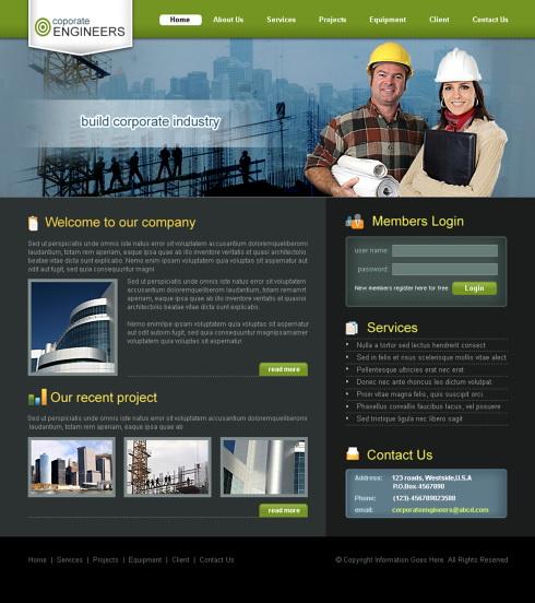 Handyman CSS Template - 5694 - Construction & Engineering ...