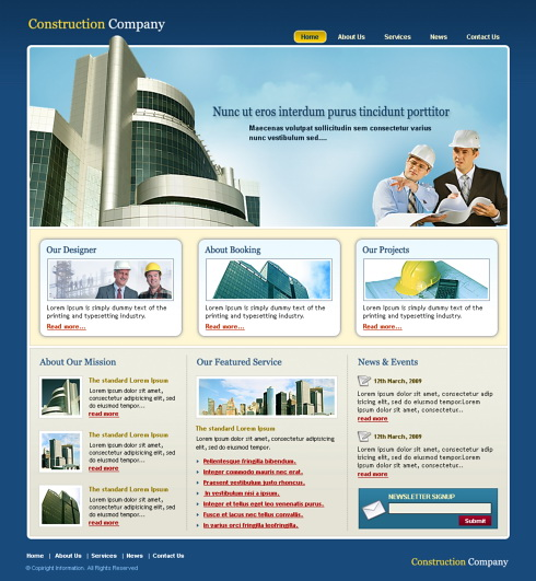 Property Lands Website Template - 5695 - Construction ...