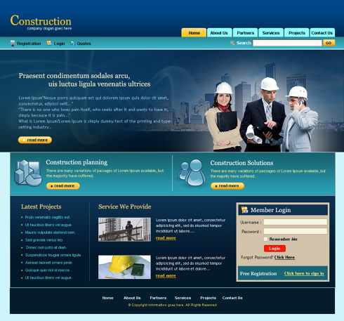 Construction Management HTML Template - 5696 - Construction ...