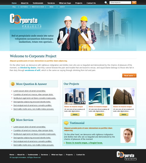 engineering css template 5698 construction engineering
