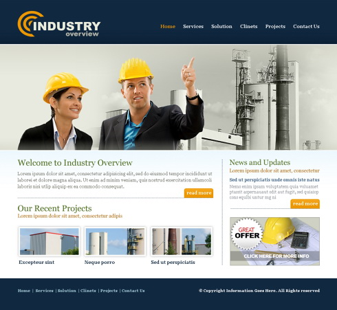 Industry Website Template - 5701 - Construction & Engineering ...