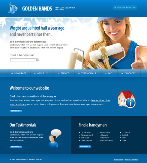 Painter XHTML Template - 6185 - Construction & Engineering ...