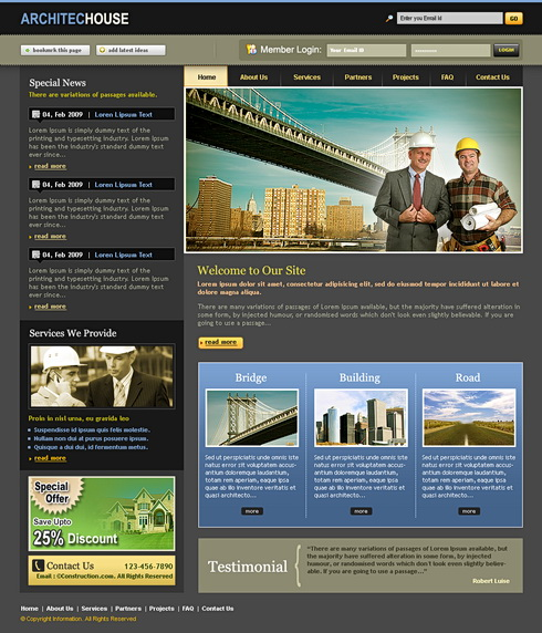 Engineering Web Template - 6582 - Construction & Engineering ...