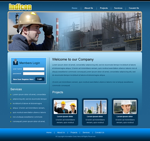 Heavy Construction Website Template - 6605 - Construction ...