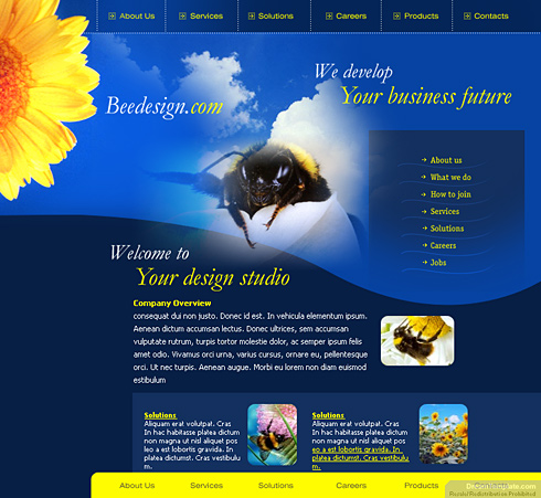 Honey Bee HTML Template - 0328 - Animals & Pets - Website Templates