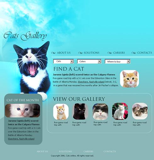 Cats World XHTML Template - 0559 - Animals & Pets - Website ...