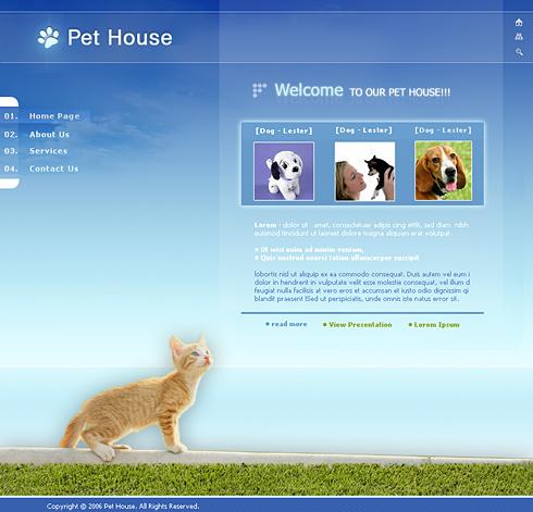 Pet House Web Template - 0629 - Animals & Pets - Website Templates ...