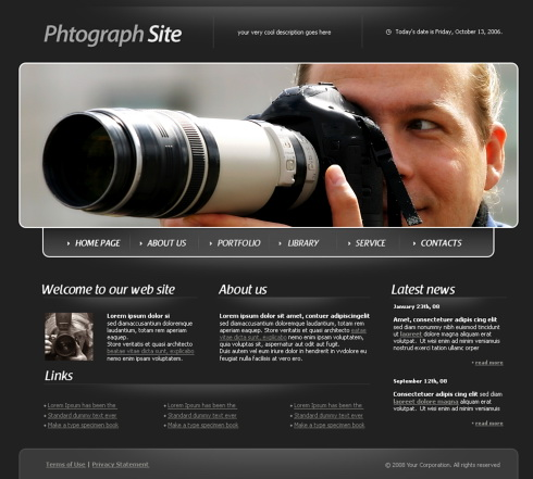 websites templates for photographers