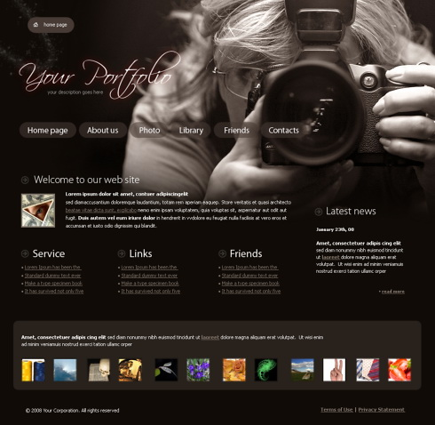 Real focus website template 4317 art photography for Best art websites for artists