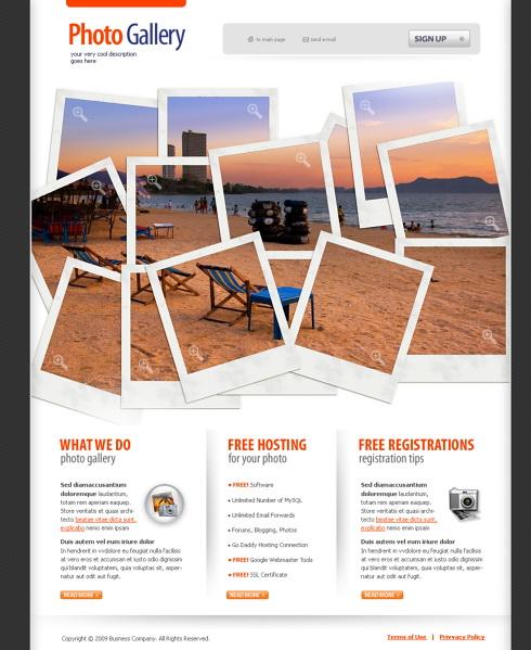 Photo Mania HTML Template Art Photography Website - Real estate photography website template