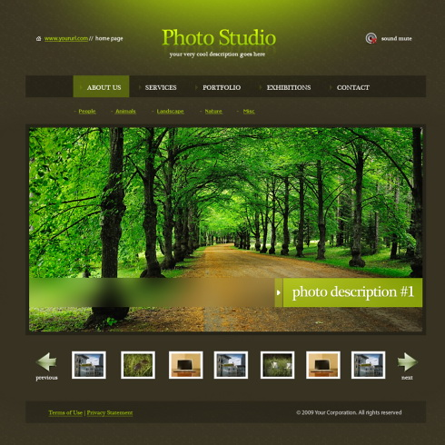 website templates photography