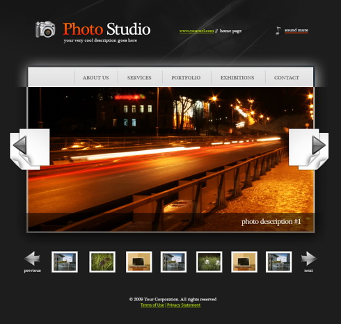 Photo Album Web Template - 5488 - Art & Photography - Website ...